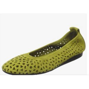Arche Lilly Ballet Flats Bamboo Green EUC Size 40